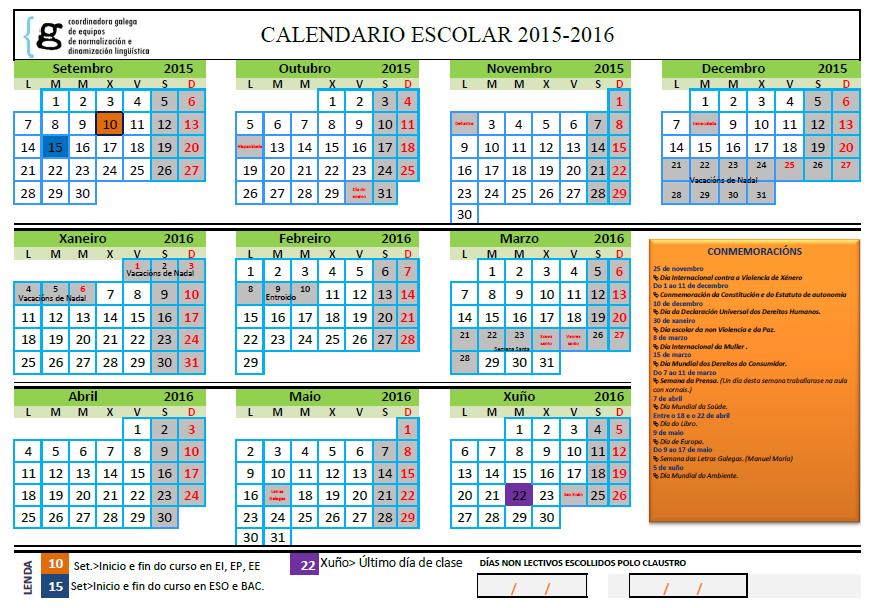 Calendario Escolar Xunta.Datas De Controis E Exame De Avaliacion Do 2º Trimestre A Profa