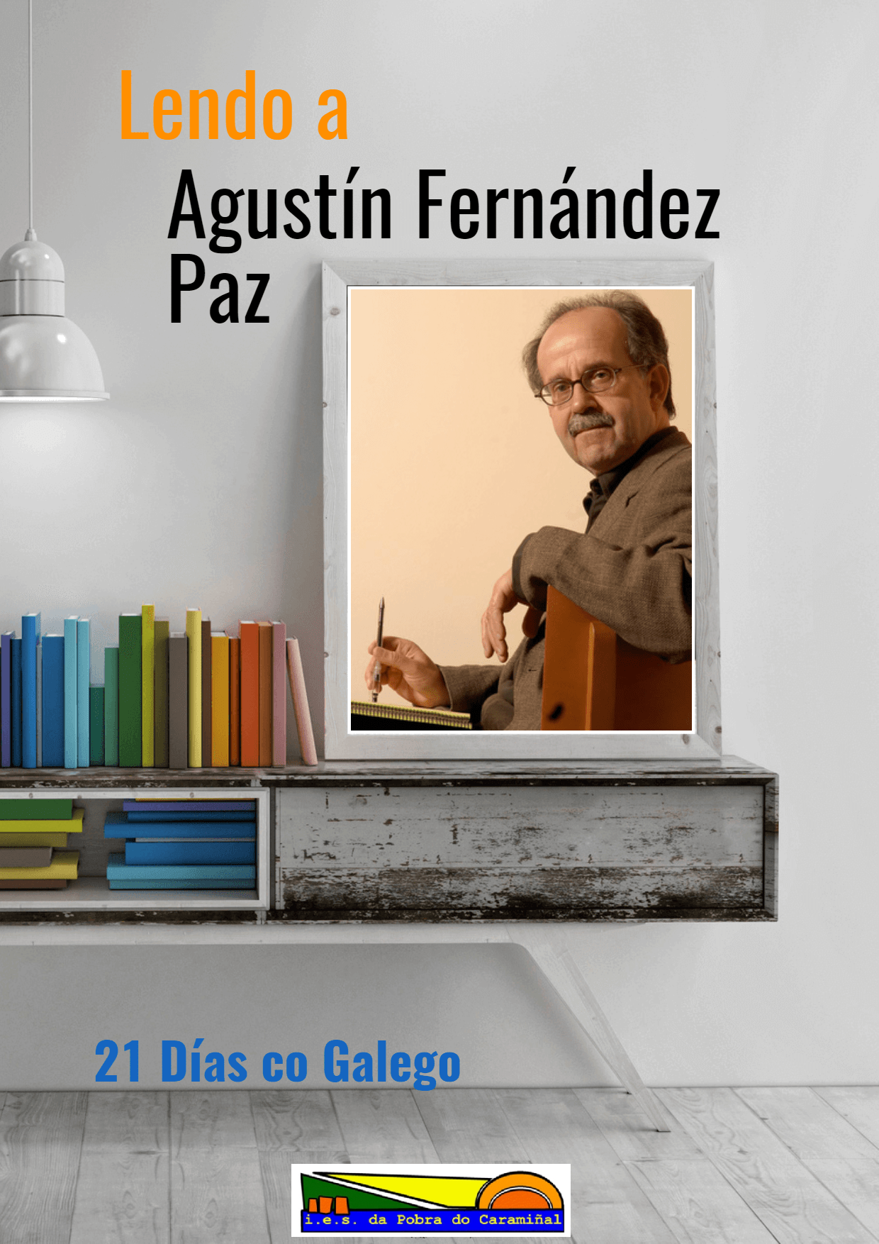cartel lendo a Agustín